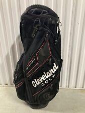 Cleveland CG Black Cart Golf Bag 14-Way Cooler Pocket Top Black/Red 86957G