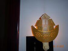 NEW COLONIAL TIN  MUSTARD COLORED NOAH'S ARK METAL NIGHT LIGHT