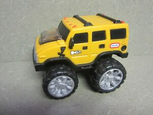 Little Tikes Hummer H2 Spark Racerz Yellow Rev & Go Vehicle Toy Car SUV