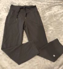 Lululemon Gray Capri Workout Running pants Size 6