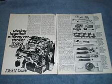 """Vintage Tech Info Article on """"Piecing Together A Funny Car Stroker Motor"""" Hemi"""