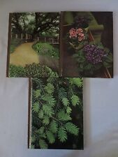 The Time Life Encyclopedia Of Gardening - 3 Books House Plants, Evergreen, Const