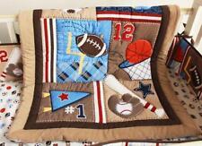 Baby Crib Bedding Sets Sport Balls Cot Nursery Quilt Bumper Sheet Dust Ruffle