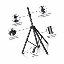 Pyle Universal Speaker Stand - Heavy Duty Tripod w/Adjustible Height