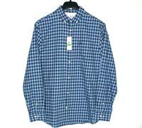 Penguin by Munsingwear Long Sleeve Button-up Plaid Shirt Mens Size L