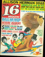 16 Magazine April 1966 Paul Revere Beatles Dave Clark 5 Hermans Hermits MBX41