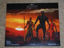 """D23 EXPO 2017 EXCLUSIVE MARVEL BLACK PANTHER 2.16.18 POSTER 11"""" x 9.5"""""""