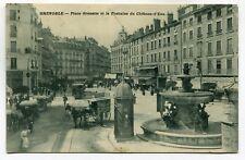 CPA - Carte Postale - France - Grenoble - Place Grenette et la Fontaine