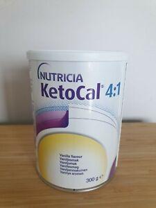 Nutricia KetoCal 4:1 vanilla powder 300g tin - NEW exp06/01/22