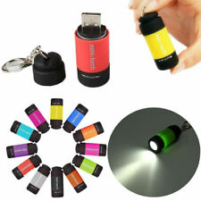 Mini USB Rechargeable LED Light Flashlight Lamp Pocket Keychain Torch Waterproof