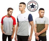 Converse Chuck Mens T-Shirt Tri Colour Block Blend Casual Cotton Sports Tee