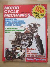 MOTOR CYCLE MECHANICS 1977 June Harley XLT 1000 Test Honda 400 500 550 Service