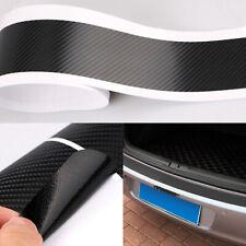 Black Car SUV Rear Bumper Trunk Tail Lip Protect 3D Carbon Fiber Sticker