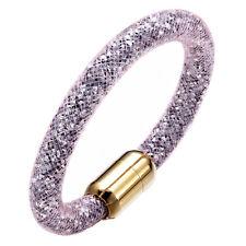 Stardust 3D Slake Bracelet Swarovski Element Crystal GP Closure Rose Lily Simple