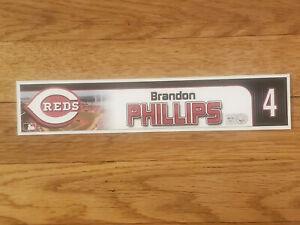 BRANDON PHILLIPS 2010 Cincinnati Reds Game Used Locker Tag