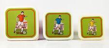 Brotdosen für Jungs, Lunchboxen, Snackdosen , 3 Stück Set, Motiv Fußballspieler