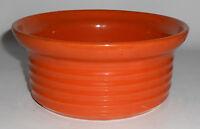 Bauer Pottery Ring Ware Orange Casserole Base
