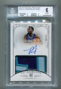 2014-15 National Treasures - PJ HAIRSTON - Autograph Patch Rookie #d/99 - BGS 6
