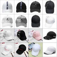 Unisex Men Women Snapback Adjustable Baseball Cap Hip Hop Hat Ring Pin Bboy Caps