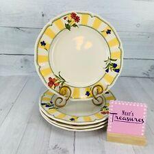 Noritake Homecraft Ireland SUMMER ESTATE #9212 Floral Yellow  Dinner Plate Set 4