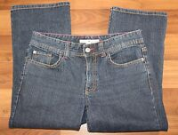 Tommy Hilfiger Women's Dark Wash Jeans Size 6 Denim Capri Cropped Stretch Cotton