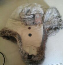 Yukon Charlie Winter Trapper Style Hat fox fur  Quilted Lining Sz  L           2