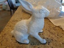 Pottery Barn Heavy distressed Metal bunny Easter New