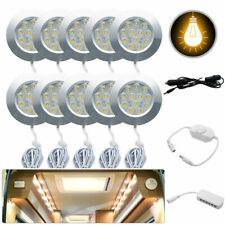 10x 12V Interior Celling Dome Light For Camper Van Caravan camper cabinet light