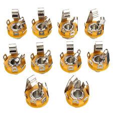 10 Pcs 1/4inch 6.35mm stereo socket/jack female connector panel mount Solder