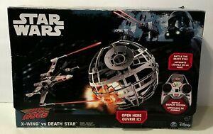 STAR WARS X-WING VS DEATH STAR REMOTE CONTROL DRONE BATTLE DEATH STAR WITH BOX