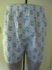 Vintage Lee Wright Cotton White Print Men'S Boxer Shorts Underwear L 36-38 Usa