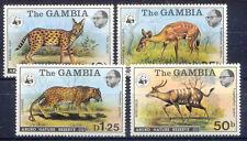 Tiere, Animals, WWF - Gambia - 332-335 ** MNH 1976