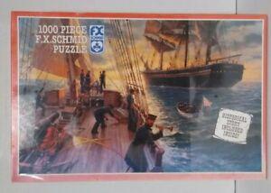 NOS F.X. Schmid 1000 Piece Jigsaw Puzzle 'Inspection of a Merchant Ship' SEALED