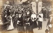 Chiswick Peace Celebrations 1919 (D)  RP old PC by B Woodhouse Bedford Park