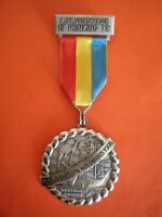 Beautiful German high jubilee medal / badge - medallic art Christopher Columbus