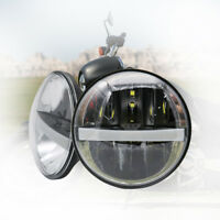 "1PC 5-3/4"" 5.75"" LED Projector Headlight Headlamp Motor DRL HiLo Motorcycle"