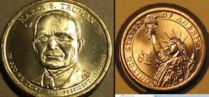Nixon P,D - Reagan P,D - Johnson P,D Presidential Golden Dollar Coins, 6 coins
