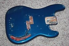 1974 1975 1976 Fender Precision bass body refinished blue