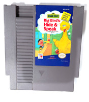 Sesame Street Big Bird's Hide and Speak ORIGINAL NINTENDO NES GAME Tested