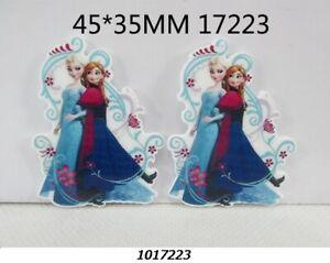 5 x 32MM ANNA ARNA + ELSA FROZEN LASER CUT FLAT BACK RESIN HAIR BOWS HEADBANDS