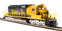 BROADWAY LIMITED 5360 HO SD40-2 ATSF #5049 Blue & Yellow Paragon3 Sound/DC/DCC
