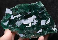 274.3g  NATURAL Green Cubic FLUORITE Crystal Cluster Mineral Specimen