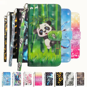 For Xiaomi Redmi Note7 8 9 Pro Luxury Painted Leather Magnetic Wallet Case Cover