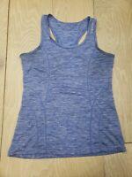 Reebok Small Tank Top Yoga Run Jog Gym Lightweight Racerback Heather Blue