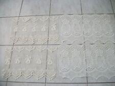 2 paires de rideaux macramé