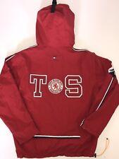 Vtg 90s Tommy Hilfiger Hooded Jacket Removable Sleeves Size XL TOMMY SPORT FLAG