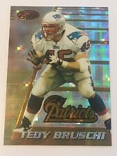 Tedy Bruschi 1996 Bowman's Best ATOMIC Refractor RC / Rookie #162 Patriots