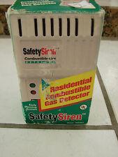 Safety Siren Combination Gas Detector Model Hs80001 w/ box instr.
