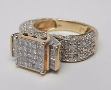 Vintage 5.9 DWT .75 Carat 14K Yellow White Gold Diamond Heart Ring Princess Cut