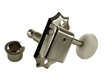 Gotoh SD90 3x3 Vintage Guitar Tuners • White Oval Button • Nickel 3+3 a Side